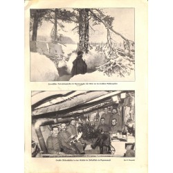 """1977 WWI print 1914/18-Argonner Wald winter photos,size:23,5 x 32,5 cm-this print comes from the austrian book """"Die grosse"""
