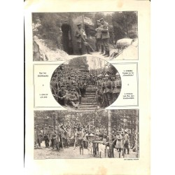 """1979 WWI print 1914/18-german sodliers photos,size:23,5 x 32,5 cm-this print comes from the austrian book """"Die grosse Zeit"""