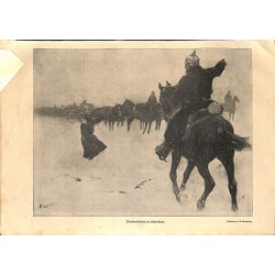 1983 WWI print 1914/18-ammunition transport german soldiers drawing by Wennenberg,size:23,5 x 32,5 cm-this print comes fro
