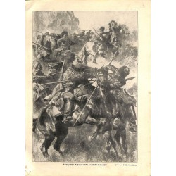 1986 WWI print 1914/18-Russian & Trukish troops in Kaukasus drawing by Anton Hoffmann,size:23,5 x 32,5 cm-this print comes