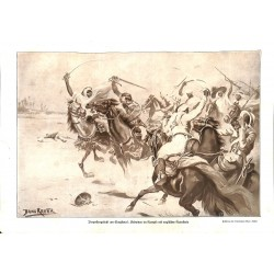 1987 WWI print 1914/18-English Cavalry versus Arabs drawing by Bruno Richter,size:23,5 x 32,5 cm-this print comes from the