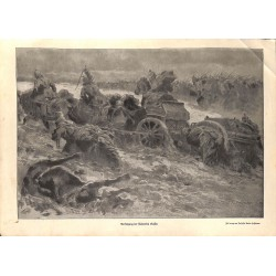 1988 WWI print 1914/18-German troops chase Russian soldiers drawing by Anton Hoffmann,size:23,5 x 32,5 cm-this print comes