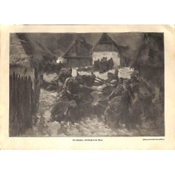 1991 WWI print 1914/18-Warzaw german soldiers in Bzura fight drawing by Anton Hoffmann,size:23,5 x 32,5 cm-this print come