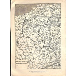 1992 WWI print 1914/18-map German trenches Dezember 1914 front line France,size:23,5 x 32,5 cm-this print comes from the a