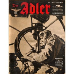 0617	 DER ADLER	 -No.	1	-1942	 vintage German Luftwaffe Magazine Air Force WW2 WWII