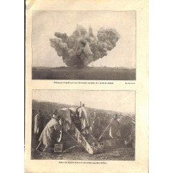 """1996 WWI print 1914/18-artillery austro-hungarian troops,size:23,5 x 32,5 cm-this print comes from the austrian book """"Die"""