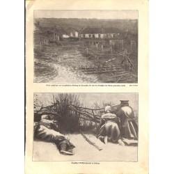 "1999 WWI print 1914/18-english Machine Gun village,size:23,5 x 32,5 cm-this print comes from the austrian book ""Die grosse"