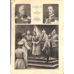 """2000 WWI print 1914/18- German Generals,size:23,5 x 32,5 cm-this print comes from the austrian book """"Die grosse Zeit""""Gre"""