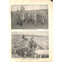 """2006 WWI print 1914/18-Western Front trench ,size:23,5 x 32,5 cm-this print comes from the austrian book """"Die grosse Zeit"""""""