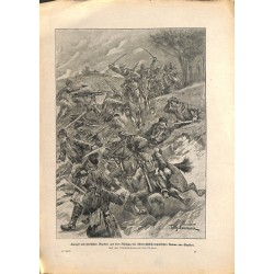2010 WWI print 1914/18-Serbian bandits attacked by austro-hungarian Cavalry,size:23,5 x 32,5 cm, printed on normal paper-,