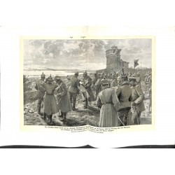2011	 WWI print 1914/18-	Wilhelm II Citadell Kalimegdan Belgrad 1916	,size:	47 x 32,5 cm	, good condition, but with water damage