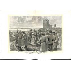 2011 WWI print 1914/18-Wilhelm II Citadell Kalimegdan Belgrad 1916,size:47 x 32,5 cm, good condition, but with water damage