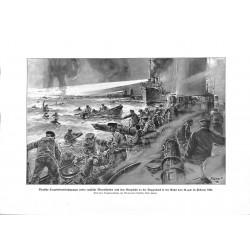 2012 WWI print 1914/18-German Torpedo Boat crew & English seamen 1916 drawing by Willy Stöwer,size:23,5 x 32,5 cm,this pri
