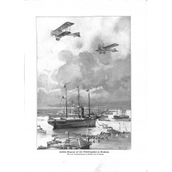 2013 WWI print 1914/18-Turkish Airplanes at Suez Egypt,size:23,5 x 32,5 cm, with bend at corner,,this print comes from the