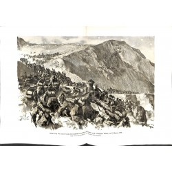 """2018 WWI print 1914/18-Lovcen 1916 austro-hungarian soldiers,size:47 x 32,5 cm,this print comes from the german book """"Illu"""
