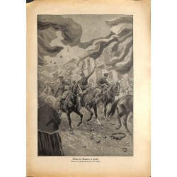 2022 WWI print 1914/18-Bulgaria troops in Usküb drawing by Curt Schulz,size:23,5 x 32,5 cm, printed on normal paper-,this