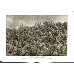 2025 WWI print 1914/18-France Height 192 Tahure Champagne German Soldiers paiting by Hans W. Schmidt,size:47 x 32,5 cm, pri