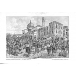 """2037 WWI print 1914/18-Austro-hungarian lazarett in Italy,size:47 x 32,5 cm,this print comes from the german book """"Illustr"""