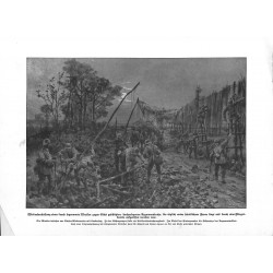 "2041	 WWI print 1914/18-	German soldiers cover streets	,size:	23,5 x 32,5 cm		,this print comes from the german book ""Illustrier"