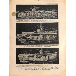 2048	 WWI print 1914/18-	German U-Frachtboot	,size:	23,5 x 32,5 cm	, printed on normal paper-	,this print comes from the german