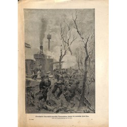 2051 WWI print 1914/18-Austro-hungarian troops storms romanian Isle Dinu,size:23,5 x 32,5 cm, printed on normal paper-,thi