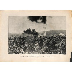 2053	 WWI print 1914/18-	mine hole german soldiers	,size:	23,5 x 32,5 cm	, printed on normal paper-	,this print comes from the g
