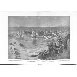 2055	 WWI print 1914/18-	British Cvalry Diala Tigris Djebel-Hamrin turkish battlefield	,size:	47 x 32,5 cm	torn edge	,this print