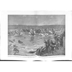 2055 WWI print 1914/18-British Cvalry Diala Tigris Djebel-Hamrin turkish battlefield,size:47 x 32,5 cmtorn edge,this print