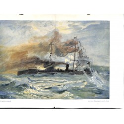 """2056 WWI print 1914/18-Torpedo boat painiting by Romin,size:57 x 32,5 cm,this print comes from the german book """"Illustrier"""