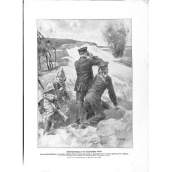 2058	 WWI print 1914/18-	Kurland german soldiers drawing by Karl Storch	,size:	23,5 x 32,5 cm		,this print comes from the german