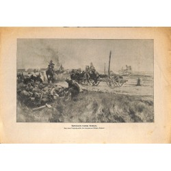 2062	 WWI print 1914/18-	German artillery field	,size:	23,5 x 32,5 cm	, printed on normal paper-	,this print comes from the germ
