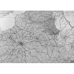 2072	 WWI print 1914/18-	map France battlefield front line	,size:	23,5 x 32,5 cm	, printed on normal paper-	,this print comes fr
