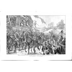 2075 WWI print 1914/18-Przemysl 1915 Cavalry  Division Berndt drawing by Schmidt,size:47 x 32,5 cm,this print comes from t