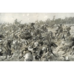 2076 WWI print 1914/18-Mülhausen France african hunters 1914 german soldiers,size:47 x 32,5 cm,this print comes from the g