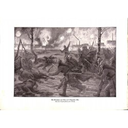 2082 WWI print 1914/18-Lodz December 1914 german sodliers drawing by Roloff,size:23,5 x 32,5 cm,this print comes from the