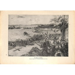 2083 WWI print 1914/18-Vailly german soldiers drawing by Klein,size:23,5 x 32,5 cm, printed on normal paper-,this print co