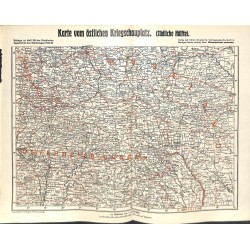 """2087 WWI print 1914/18-map Russia Austria front 1914/15,size:41 x 32,5 cm,this print comes from the german book """"Illustrie"""