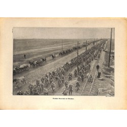 2088 WWI print 1914/18-Warzaw German soldiers marsh,size:23,5 x 32,5 cm, printed on normal paper-,this print comes from th