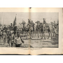 2089	 WWI print 1914/18-	Turks El Kantara  drawing by Hänel	,size:	47 x 32,5 cm	, printed on normal paper-	,this print comes fro