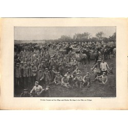 2091 WWI print 1914/18-Ostende Brügge German soldiers,size:23,5 x 32,5 cm, printed on normal paper-,this print comes from