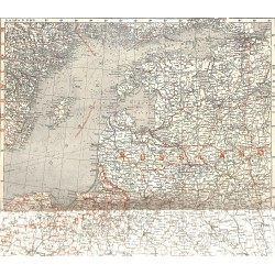 """2093 WWI print 1914/18-map Russia Eastern Front,size:39 x 39 cm,this print comes from the german book """"Illustrierte Geschi"""