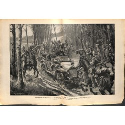 2095 WWI print 1914/18-Kutno arrest of Warzaw's gouvernor  Baron v. Korff,size:47 x 32,5 cm, printed on normal paper-,this