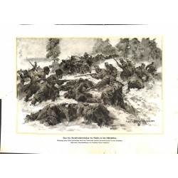 2100 WWI print 1914/18-Ostbeskiden russian soiders,size:23,5 x 32,5 cm, poor condition,,this print comes from the german b