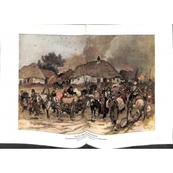 2101 WWI print 1914/18-Brest-Litowsk polish refugees painting by Max Tilke ,size:47 x 32,5 cm,this print comes from the ge