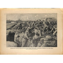 2108 WWI print 1914/18-Jaslowier russian & austro-hungarian soldiers trench,size:23,5 x 32,5 cm, printed on normal paper-,