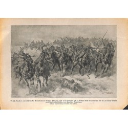 """2110 WWI print 1914/18-Alt  German Cavalry November 1916,size:23,5 x 32,5 cm,this print comes from the german book """"Illust"""