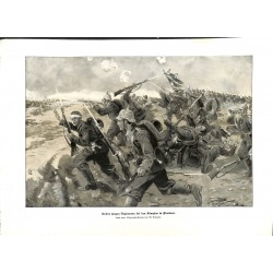 "2113	 WWI print 1914/18-	Flandern Belgium german soldiers storm	,size:	23,5 x 32,5 cm		,this print comes from the german book ""I"