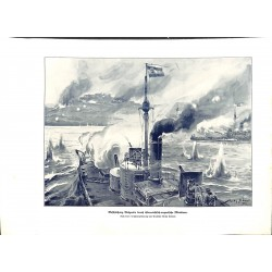 """2114 WWI print 1914/18-Belgrad ships austro-hungarian ships,size:23,5 x 32,5 cm,this print comes from the german book """"Ill"""