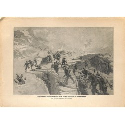 """2115 WWI print 1914/18-Adamellogebiet italian soldiers,size:23,5 x 32,5 cm,this print comes from the german book """"Illustri"""