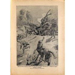 2116	 WWI print 1914/18-	Ypern June 1916 english soldiers german attack	,size:	23,5 x 32,5 cm	, printed on normal paper-	,this p